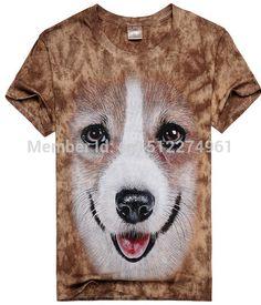 In Style; Printed Shirts Crew Neck Skeleton Rib Cage Pembroke Welsh Corgi Heart Dog T Shirt Mens Tee Fashionable