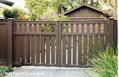 Wooden Driveway Gates Design Ideas, Pictures, Remodel and Front Gates, Front Yard Fence, Entrance Gates, Front Yard Landscaping, Yard Gates, Wooden Garden Gate, Wooden Gates, Wooden Driveway Gates, Tor Design