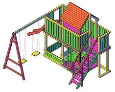 Backyard Play, Play Houses, Building, Treehouse, Home Decor, Google, Garden, Houses, Garden Deco