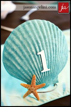 Seashell table numbers for a www.aseasidewedding.net