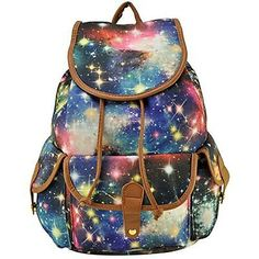 Fashion Printed TrendyMax Galaxy Pattern School Backpack Cute for Girls Blue  | eBay