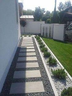 Backyard Patio Designs, Small Backyard Landscaping, Backyard Ideas, Landscaping Ideas, River Rock Landscaping, Backyard Projects, Modern Landscaping, Fence Ideas, Porch Ideas