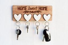 wall key holder diy - Google Search