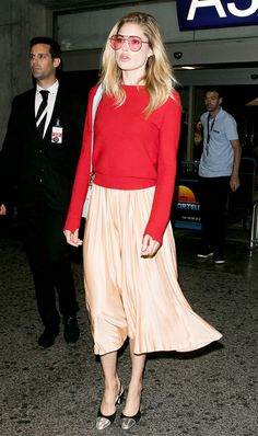 Shop our favorite pleated skirts right now, and see how Bella Hadid, Candice Swanepoel, and more style the trend.