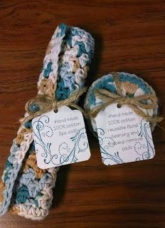 Crocheted Spa Cloth & Facial Scrubbies Gift Set, Inspired by Pinterest.