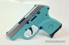 Tiffany Blue Ruger LCP .380 Handgun with Stainless Steel Slide  Guns > Pistols > Ruger Semi-Auto Pistols > LCP