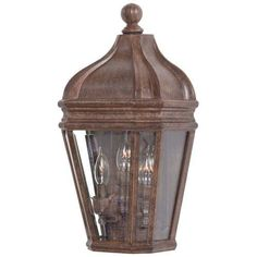 The Great Outdoors GO 8698 3 Light 18.25 Height Outdoor Wall Sconce from the Harrison Collection (vintage rust) (Aluminum)