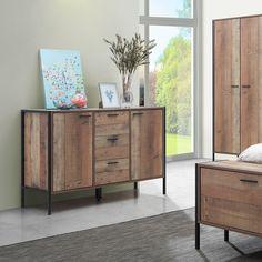 Bodgers 2 Door 3 Drawer Sideboard Furniture Rustic Industrial Furniture Small Sideboard