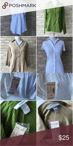 Lot Of 4 Small Dressbarn Tops All are new with tags, but some have small stains/spots from being tried on in the store. Dress Barn Tops Blouses
