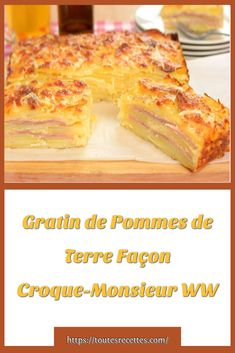 Gratin de Pommes de Terre Façon Croque-Monsieur WW – Toutes recettes Place, Effort, French Toast, Alternative, Breakfast, Food, Nice Salad, Tin Loaf, Dinner