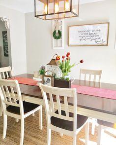 Dining Room Farmhouse Style Decor Natural Rug Table Wreath