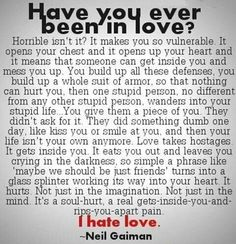 Love Hurts Ive Read This Before Could Only Ever Relate To The