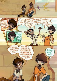 Percy just has that affect on people. ;)<<<<< ahh I love this art style and this scene