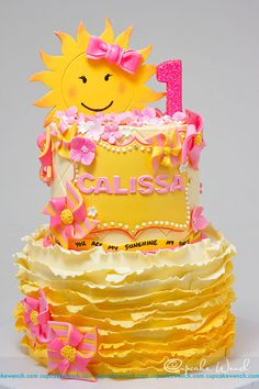 You are my sunshine - Cake by Cupcake Wench - CakesDecor