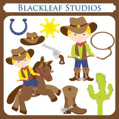Cow Boys Clipart Instant Download country cow by blackleafdesign, $5.00...felt board fun