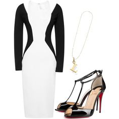 Untitled #140 by la-shauntee on Polyvore featuring Cushnie Et Ochs, Christian Louboutin, Thomas Sabo and Topshop