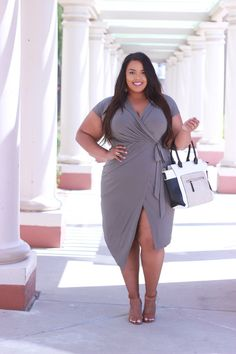 Hey budget babes! I can't think is a better way to wrap up the week than with a wrap dress! (I crack myself up) This one is from Boohoo Plus and here's why I love it: 1. It's call…