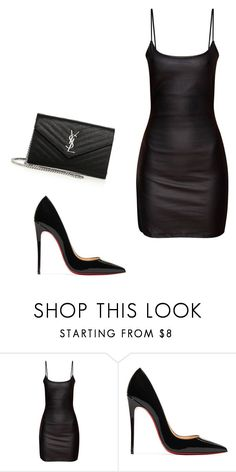 """""""Untitled #188"""" by chinesequeen15 ❤ liked on Polyvore featuring Christian Louboutin and Yves Saint Laurent"""