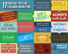 The Do's and Dont's of posting on Facebook for Pages.