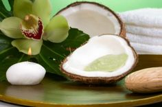 Coconut Oil Scrub - 1 tablespoon of coconut oil, 1 tablespoon of honey, 1 teaspoon of brown or demerara sugar. half a teaspoon of salt  Mix these ingredients together well, and apply to your skin in a gentle circular motion. You can leave this recipe on for a few minutes for extra moisturizing and then wash off. Pat your skin dry with a soft towel.