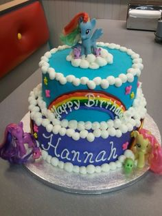 My Little Pony cake for my little girl. Top tier...