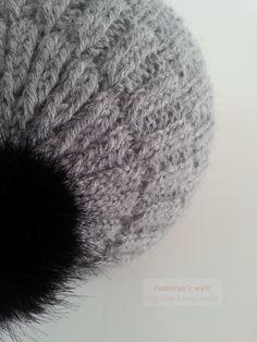 Gestrickte Mütze im rechts/links Muster mit doppeltem Faden aus Baby Alpaka Wolle von Wolle Rödel 2