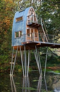 Unique Homes - This tiny home sits atop a unique foundation made of steel. While this may or may not be the first choice home, it does make for an outstanding get away spot.