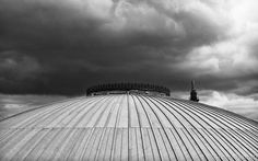 tonyharrattphotography:  Storm, It Comes… A new location in Liverpool: the roof terrace of the Central Library.