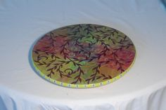 Custom Wedding painted trays and lazy susans add pizazz to your home decor.