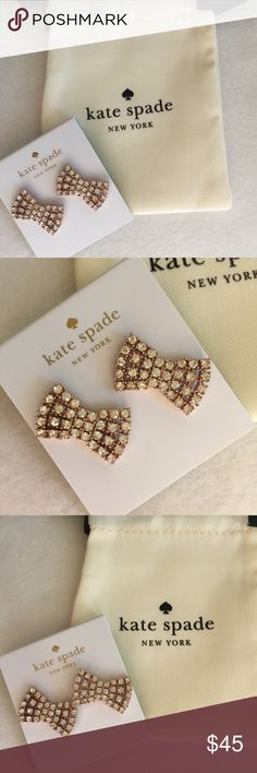 NEW Kate Spade Bow Stud Earrings NWT Kate Spade Bow Earrings in rose gold plating. Matching necklace also available. Open to offers kate spade Jewelry Earrings