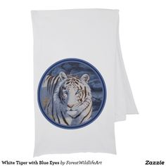 White Tiger with Blue Eyes Scarf Wraps