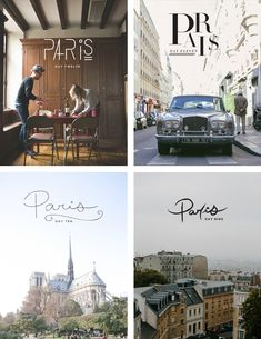 Typographic project by Megan Gigler. 16 days in Paris 16 ways to type. via muymolon.com