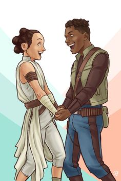 When you just have to stop and admire the fit on your SO before you both go to kick some dark side ass. 🥰� I'm not saying that this is a scene in TRoS, but … Done on commission by the incredible. Finn Star Wars, Rey Star Wars, Star Wars Fan Art, Dope Cartoons, Dope Cartoon Art, Disney Eras, Daisy Ridley Star Wars, Rey And Finn, Han And Leia