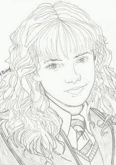 image detail for face closeup coloring sheets hermione