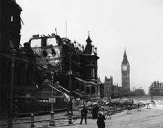 Los efectos de los bombardeos alemanes sobre Londres durante la Segunda Guerra Mundial