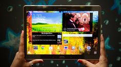 Samsung Galaxy Tab S is a movie-buff's best bet (pictures) The Samsung tablet features a vibrant super-AMOLED screen and one of the sleekest designs around. Galaxy Tablet, Samsung Galaxy S, Best Android Tablet, Latest Smartphones, Application Icon, New Tablets, 7 And 7, Tech Gadgets, Technology