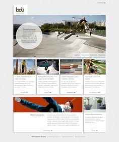 BDU Web corporativa de empresa dedicada a espacios de juego. http://bdu.es/