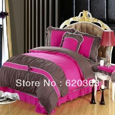 Aliexpress.com : Buy 100% cotton bedding solid color two color color block color block decoration  bedding set,duvet covers,bed sheet,bedspread on Yous Home Textile. $80.00 - 82.00