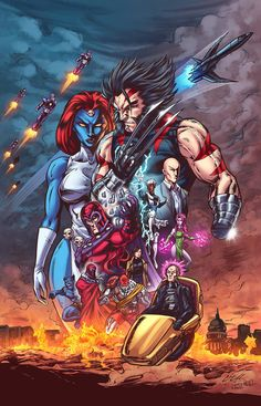 Age Of Apocalypse - X-Men/ wolverine as apocalypse
