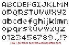 Font: Tiny Font, PDF version