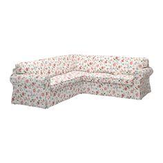 EKTORP Sarokkanapé huzat 2+2 IKEA Levehető, gépi mosással könnyen tisztán tartható huzat.