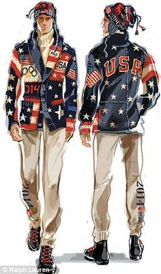 Ralph Lauren has unveiled its designs for Team U.S.A.'s opening ceremony uniforms at the 2014 Sochi Olympic games. The uniform, whose individual pieces will also be sold at Ralph Lauren stores nationwide, were manufactured in the United States and are constructed of domestically-sourced materials.