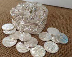 Tono de plata arras de la boda / unidad monedas por WEDDINGLASSOS