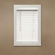 Home Decorators Collection Cut-to-Width White 2 in. Faux Wood Blind - 72 in. W x 64 in. L-10793478068289 at The Home Depot