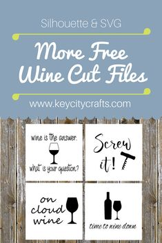 More wine sayings! Free cut file for Silhouette & Cricut.   #coasters #wine #vinyl #diy #cricut #silhouetteamerica #blog #blogger