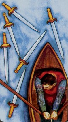 6 Six of Swords - Hudes Tarot