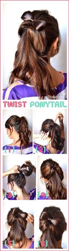 #DIY #hairstyles #bow #ponytail
