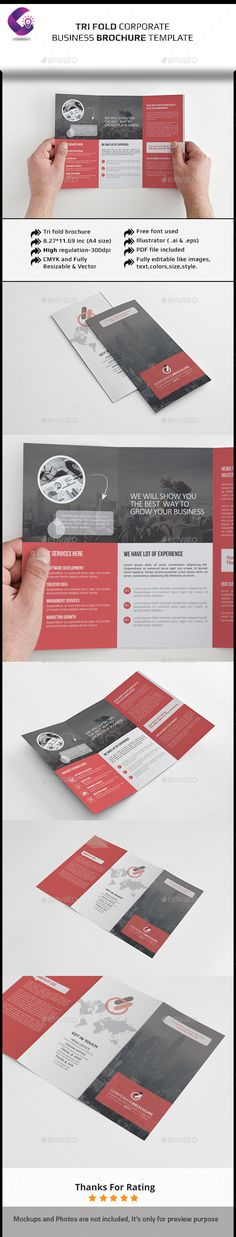 Corporate Tri-fold Brochure-Multipurpose — EPS Template