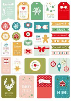 Etiquetas y tags para Navidad  Les podéis dar muchos usos.   Enlace:   http://www.polarbear-leblog.fr/2014/11/diy-noel-inspirations-pinteres...