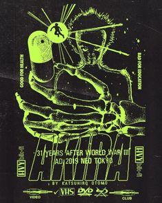 'Akira' Poster by Cameron Miszczenko Punk Poster, Poster S, Graphic Design Posters, Graphic Design Inspiration, Le Vent Se Leve, Japanese Graphic Design, Design Graphique, Retro Futurism, Cool Posters